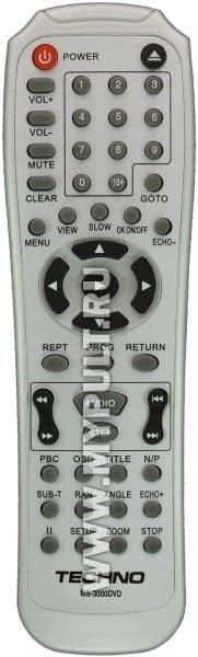 Пульт TECHNO MS-3000DVD